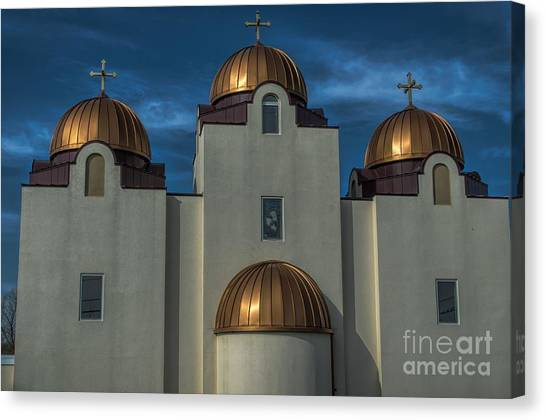 Coptic Art Canvas Print - St Mary And St Abram Coptic Church St Louis  by Luther Fine Art