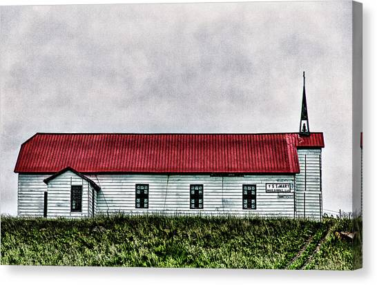 St. Mary Church, Babb, Mt Canvas Print
