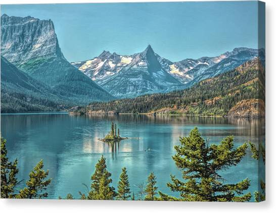 St Mary Lake Canvas Print