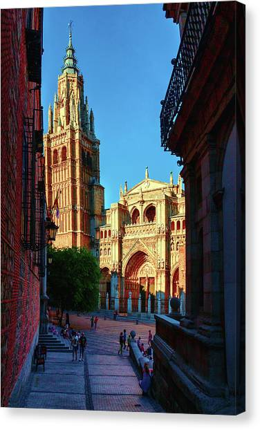 St Mary's Cathedral - Catholic Cathedral In Toledo, Chair Of The Primate Of Spain, The Main Cathedra Canvas Print
