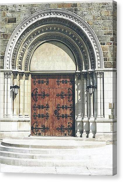 St. Mary's Of Redford Entrance Canvas Print