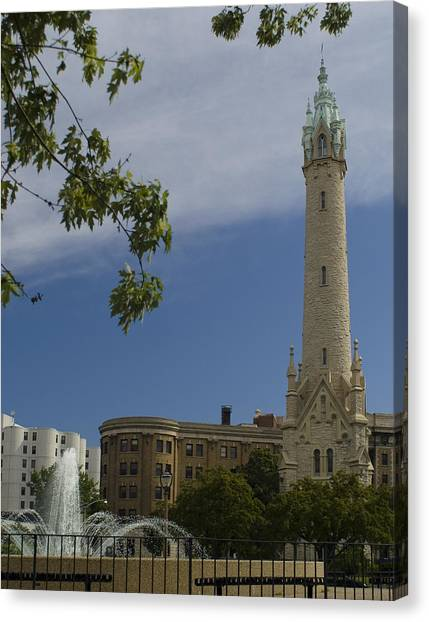 St Mary's Water Tower Canvas Print