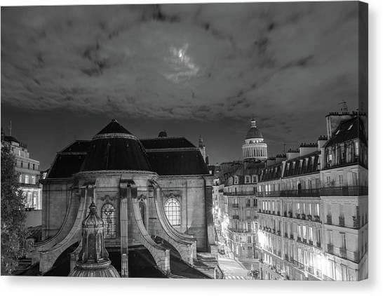 St Nicholas Du Chardonnet, Paris, At Night Canvas Print