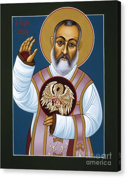 St Padre Pio Mother Pelican 047 Canvas Print