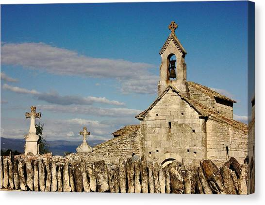 St. Pantaleon Church,  Luberon, France Canvas Print