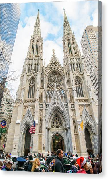 St. Patrick Cathedral In New York Canvas Print