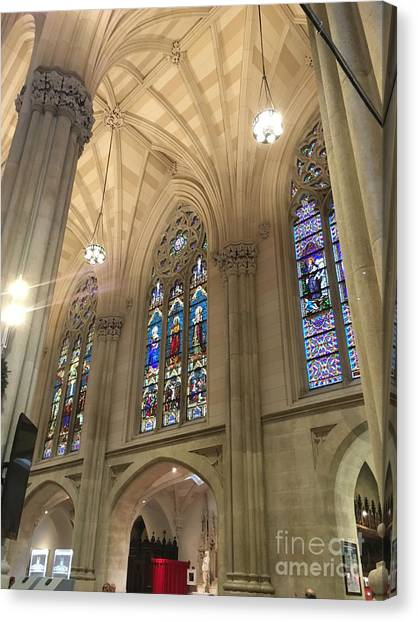 St. Patricks Cathedral Interior Canvas Print