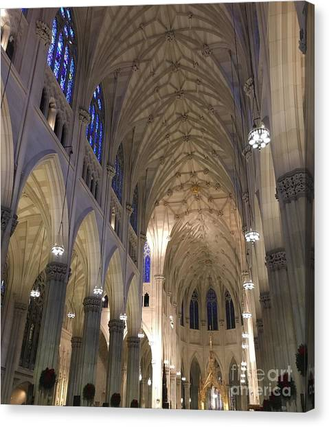 St. Patricks Cathedral Main Interior Canvas Print