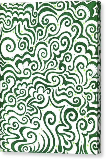 St Patrick Day Canvas Print - St Patrick's Day Abstract by Mandy Shupp