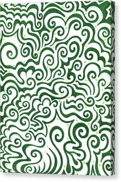 St. Patricks Day Canvas Print - St Patrick's Day Abstract by Mandy Shupp