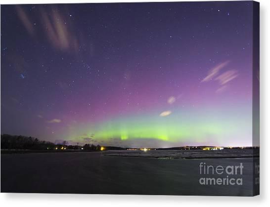St. Patrick's Day Aurora 2015 Canvas Print