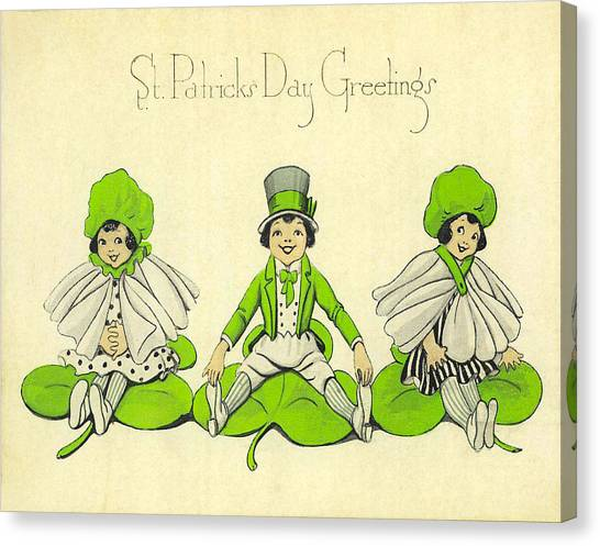 St. Patricks Day Canvas Print - St Patricks Day Greetings by Bill Cannon