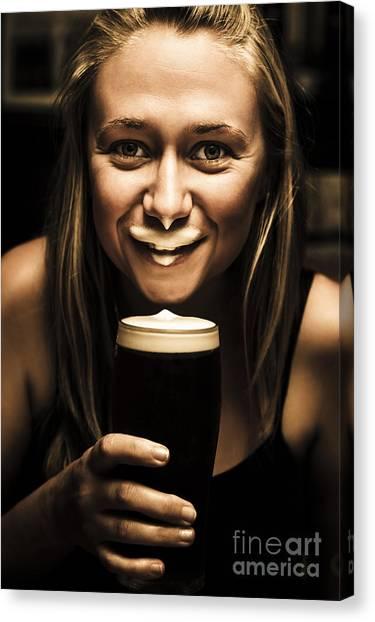 St. Patricks Day Canvas Print - St Patricks Day Woman Imitating An Irish Man by Jorgo Photography - Wall Art Gallery