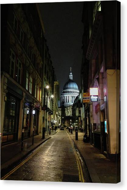 St. Pauls By Night Canvas Print
