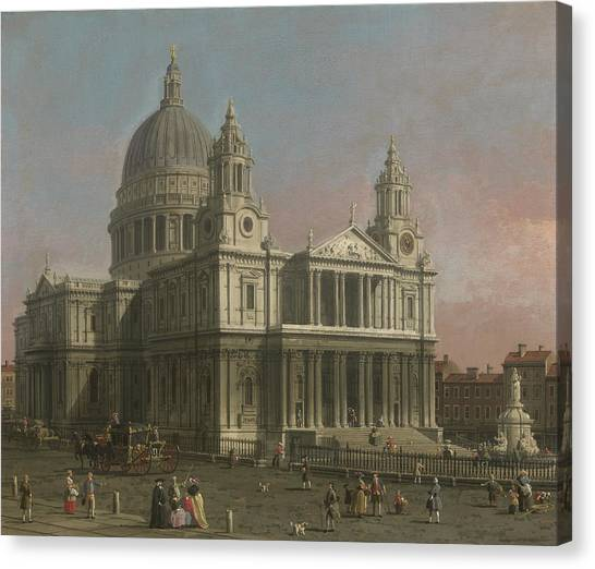 Wrens Canvas Print - St. Paul's Cathedral by Giovanni Antonio Canaletto