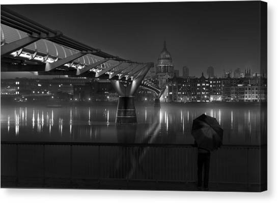 Cathedrals Canvas Print - St Pauls by Peter Davidson