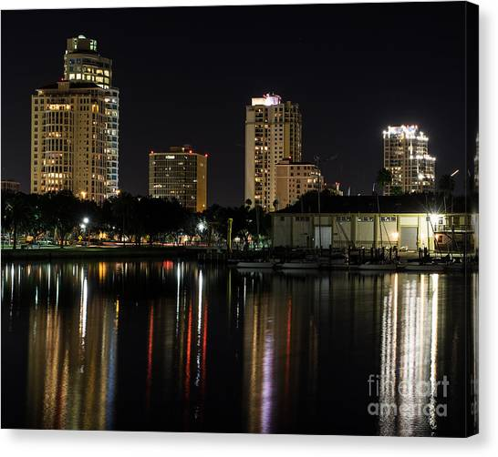 St. Pete At Night Canvas Print
