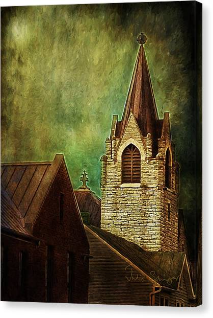 St Peter's By Night Canvas Print