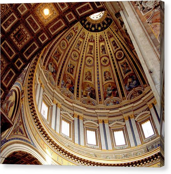 St Peters Looking Up Canvas Print by Martin Sugg
