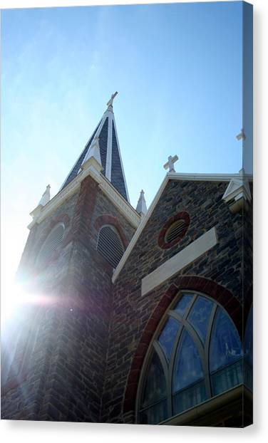 St Peters Roman Catholic Church Canvas Print by Rebecca Smith