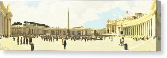 St. Peter's Square The Vatican Canvas Print