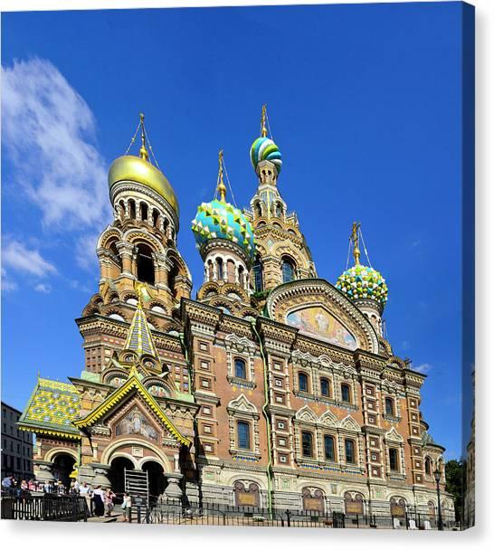 St. Petersburg Church Of The Spilt Blood Canvas Print