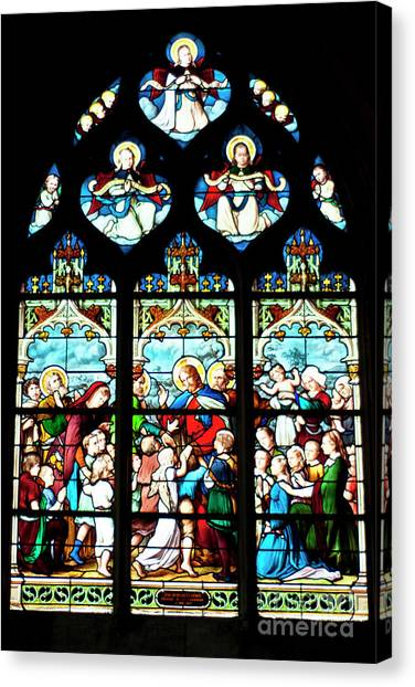 St. Severin Chuch Stain Glass Canvas Print
