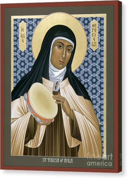 St. Teresa Of Avila - Rltoa Canvas Print