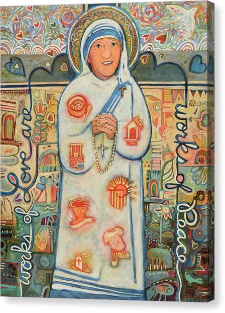Mercy Canvas Print - St. Teresa Of Kolkata by Jen Norton