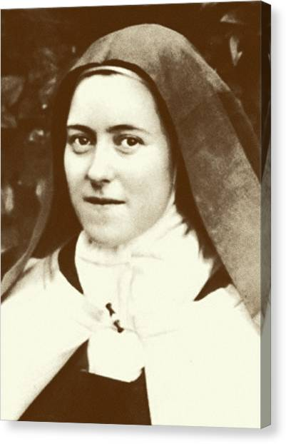 Nuns Canvas Print - St. Therese Of Lisieux - The Little Flower by Christi Studio