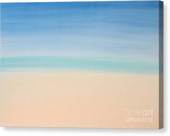 St Thomas #2 Seascape Landscape Original Fine Art Acrylic On Canvas Canvas Print