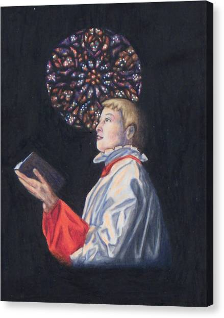 St. Thomas Episcopal Nyc Choir Boy Canvas Print