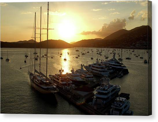 St. Thomas Harbor Canvas Print