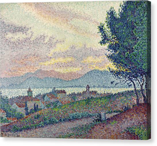 Pointillism Canvas Print - St Tropez Pinewood by Paul Signac