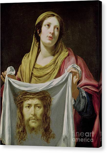 The Crown Canvas Print - St. Veronica Holding The Holy Shroud by Simon Vouet
