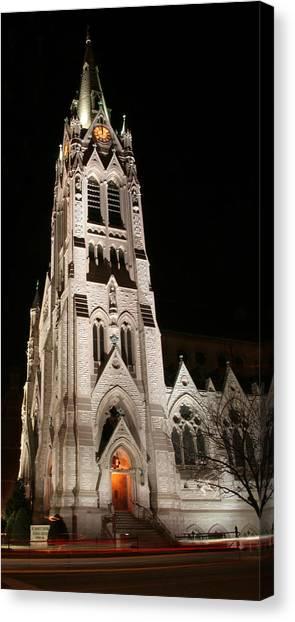 St. Xavier Full Height At Night Canvas Print