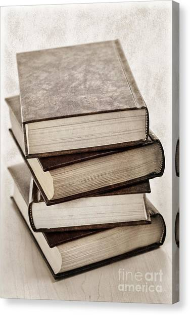 Supplies Canvas Print - Stack Of Books by Elena Elisseeva