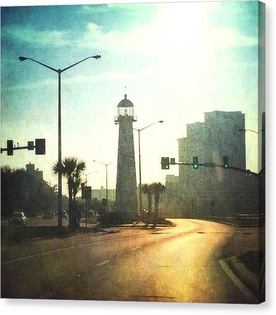 Lighthouses Canvas Print - #stackablesapp #lighthouse #biloxi by Joan McCool