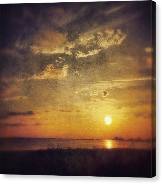 Mississippi Canvas Print - #stackablesapp #sunset  #msgulfcoast by Joan McCool