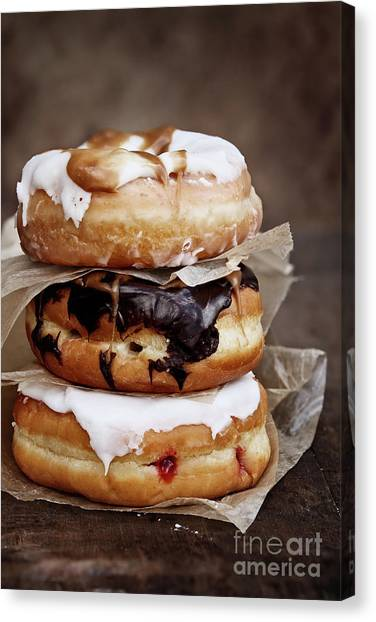 Stacked Donuts Canvas Print