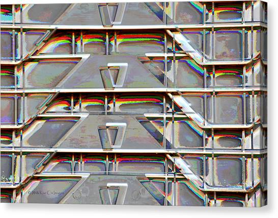 Stacked Storage Crates Abstract Canvas Print