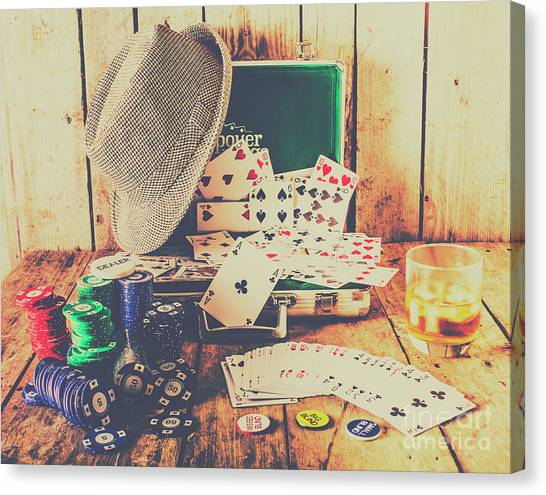 Wager Canvas Print - Stacking The Deck by Jorgo Photography - Wall Art Gallery