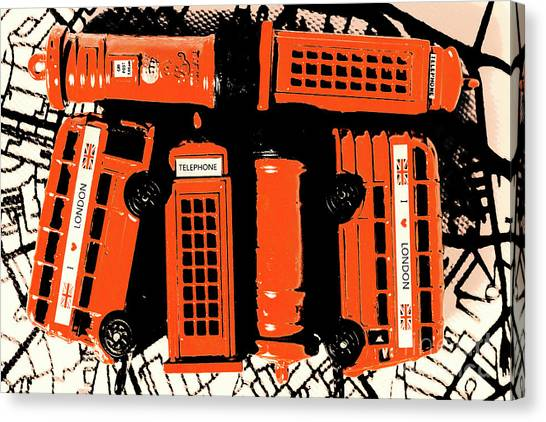 Communications Canvas Print - Stacking The Double Deckers by Jorgo Photography - Wall Art Gallery