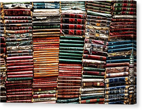 Stacks Of Books Canvas Print