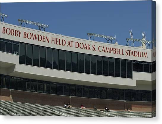 Florida State Fsu Canvas Print - Stadium by Allen Simmons