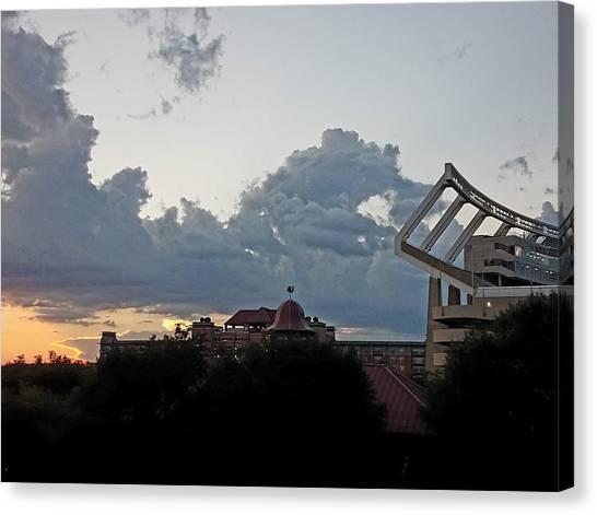 University Of South Carolina Canvas Print - Stadium Sunset by Donna Mann