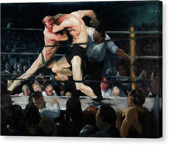 Knockout Canvas Print - Stag At Sharkey's, 1909 by George Bellows