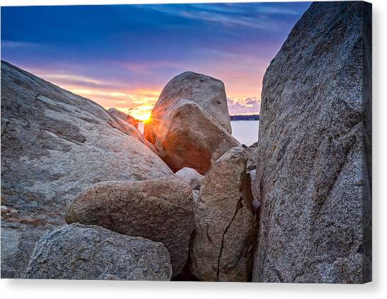Canvas Print featuring the photograph Stage Fort Park Gloucester by Michael Hubley