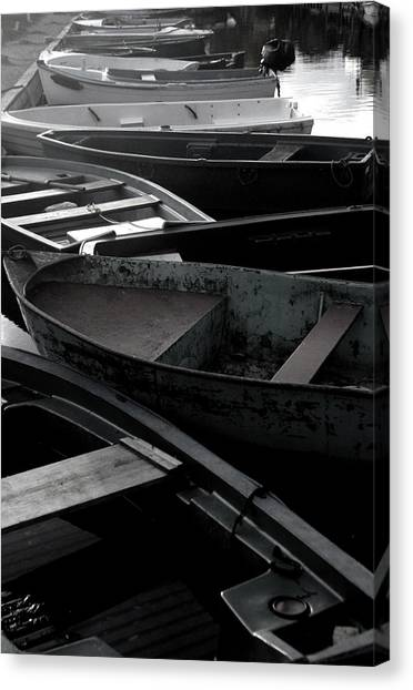 Staggered Boats Canvas Print by Jez C Self