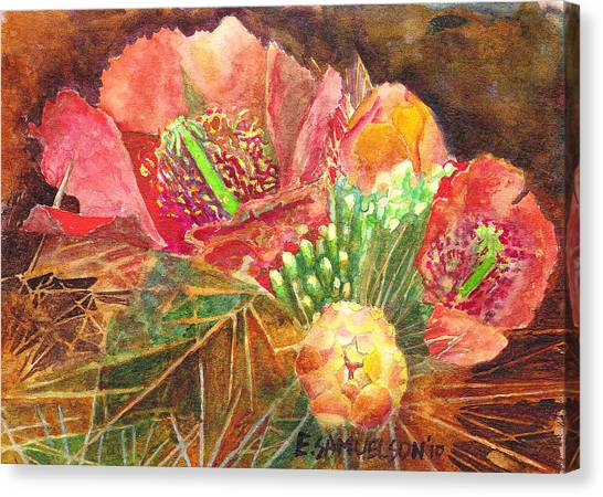 Staghorn In Bloom Canvas Print